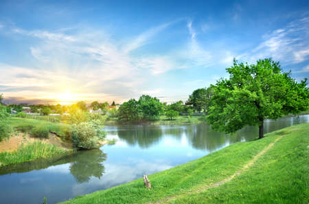 Landscape with the river Stock Photo - 20235684