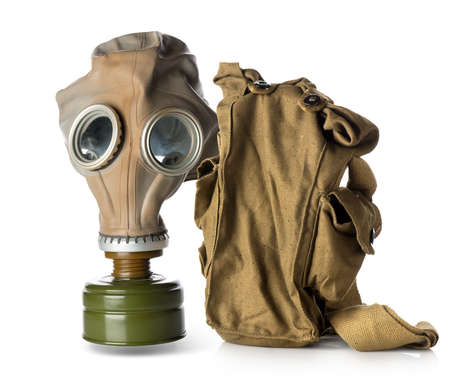 Respirator with bag isolated on white background photo