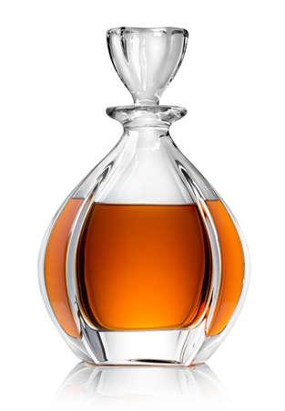 Karafka z whisky na białym tle Zdjęcie Seryjne