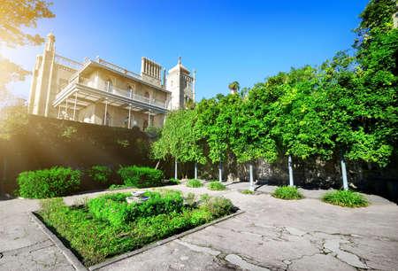 voroncov: Green flowerbed in Vorontsovs residence at sunny day