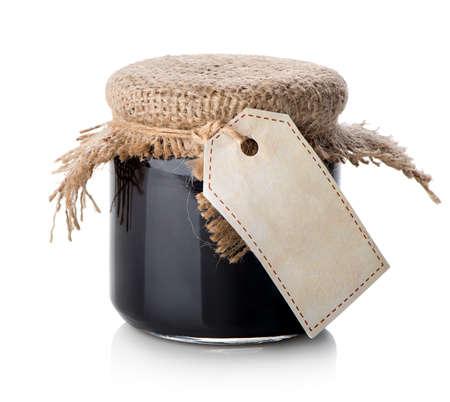 frasco: Atasco en la jarra aislado en un fondo blanco Foto de archivo