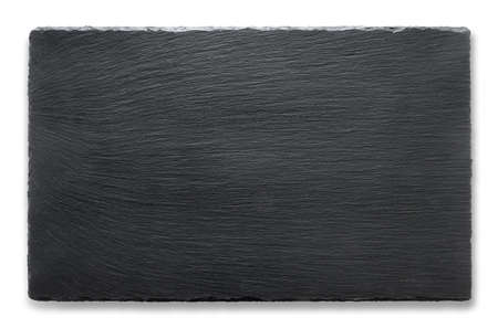 Rectangular slate stand isolated on a white background Archivio Fotografico