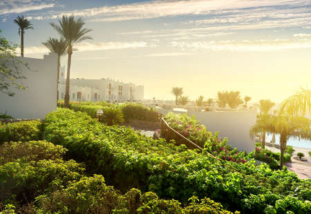 fense: Resort in Sharm el Sheikh at sunrise