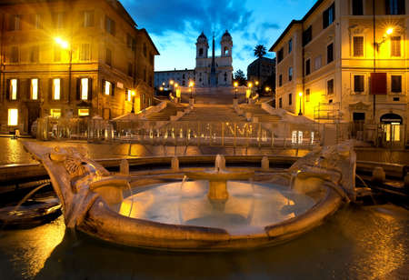 Spanish Steps and fountain in Rome, Italy Stock Photo