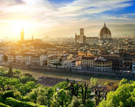 santa maria del fiore: Magnificent basilica of Santa Maria del Fiore in Florence, Italy