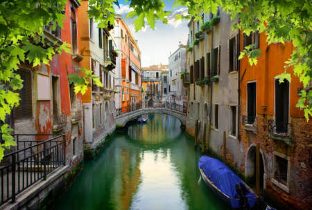 Calm venetian street in summer, Italy