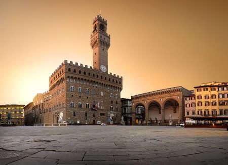 広場の鐘楼 写真素材