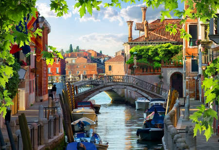 Motorboats in Venice Stock Photo