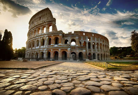 Dawn over Colosseum
