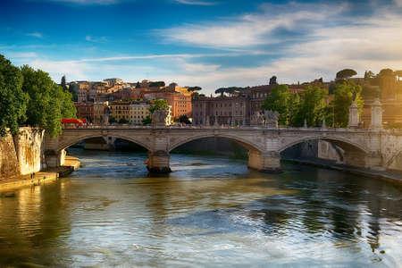 Ponte Vittorio Emanuele II Stock Photo