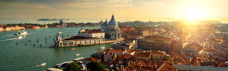 Top view of Venice Stock Photo