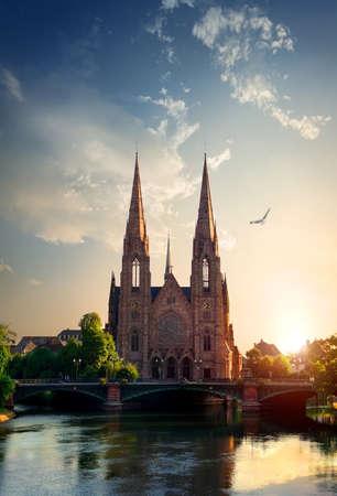Church in Strasbourg Stock Photo