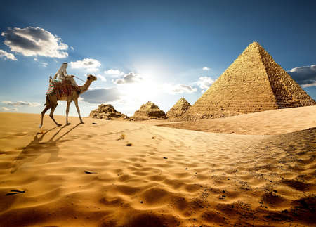 In sands of Egypt Stock Photo