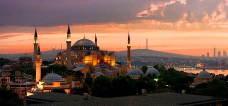 イスタンブールのアヤソフィア 写真素材