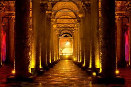 Cisterna Basilica di Istanbul Archivio Fotografico - 81173972