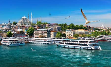 イスタンブールのボート 写真素材