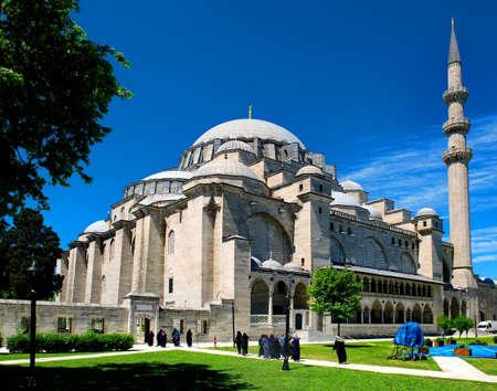 Suleymaniye-moskee in Istanboel Stockfoto