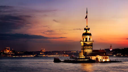 Maiden Tower at sunset Banco de Imagens