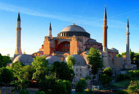 Hagia Sophia in summer Stock Photo