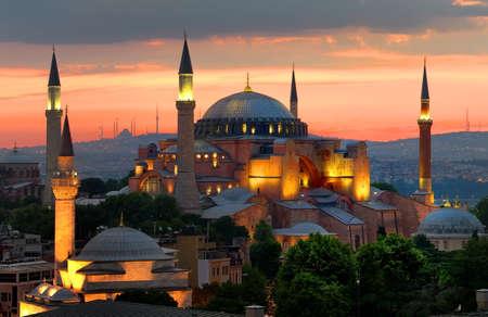 Hagia Sophia and sunset Banco de Imagens
