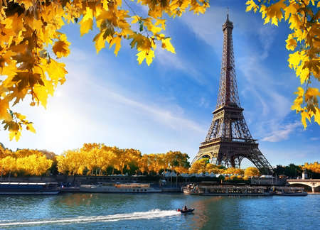 Seine and Eiffel Tower in autumn