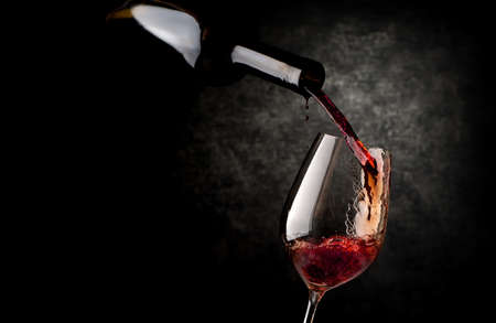 Wineglass on a black background