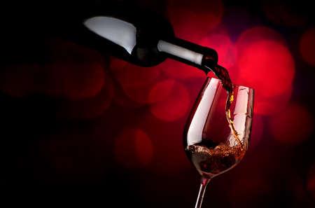 Wineglass on a vinous background Stok Fotoğraf