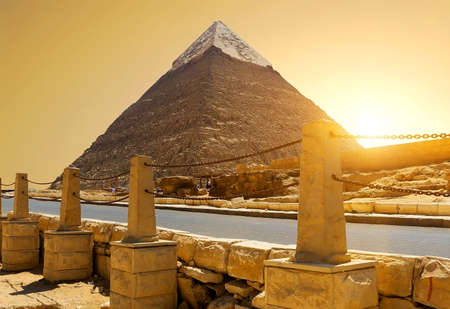 Khafre near road Stock Photo
