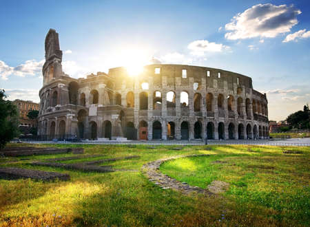 Ruins of great colosseum Stock Photo