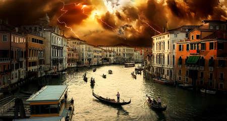 Onweersbui in Venetië