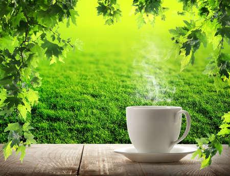 Morning cup coffee 版權商用圖片