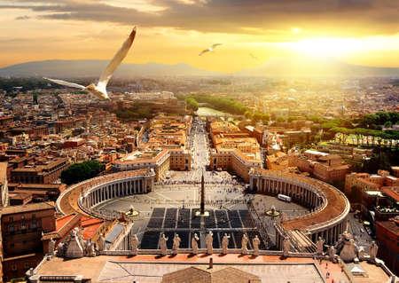 Panoramablick auf den Vatikan Standard-Bild