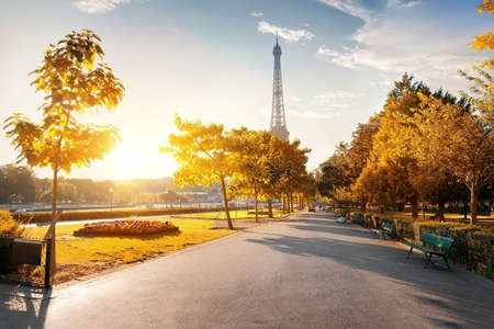 french way: Park near the Eiffel Tower