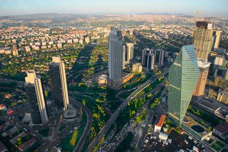 イスタンブールの空中パノラマビュー 写真素材