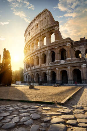 Great Colosseum in morning Standard-Bild