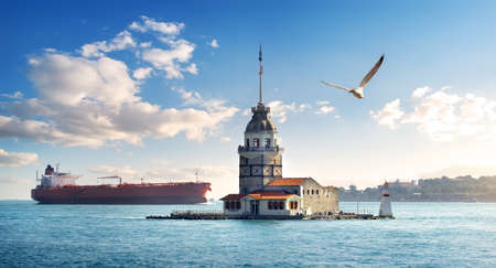 Maiden Tower in Istanbul at day