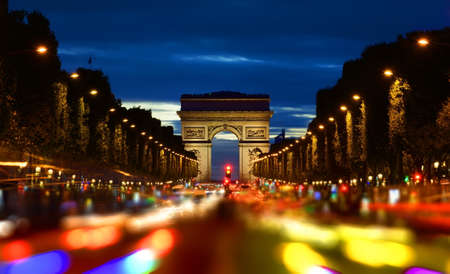Champs Elysee in evening