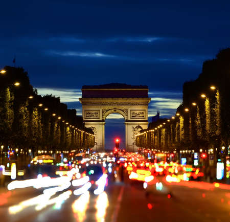 Illuminated Champs Elysee