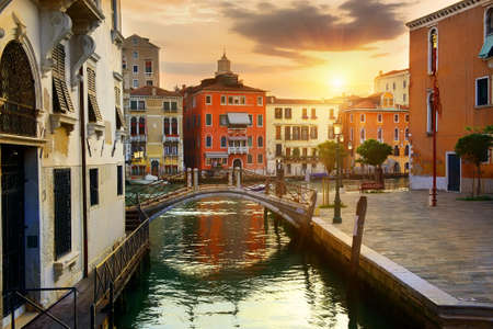 Venetian cityscape at sunrise Stock Photo