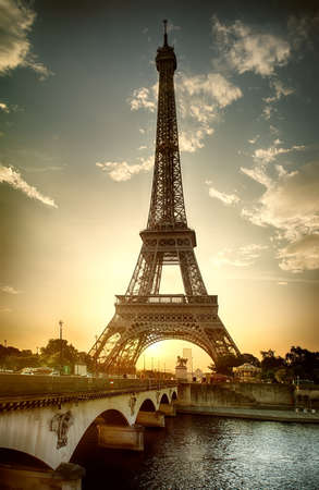 View on Eiffel Tower Stock Photo