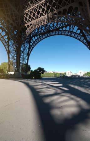 Eiffel tower view inside