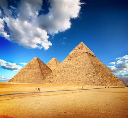 Pyramids of Giza Banco de Imagens - 93413089