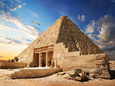 ギザ付近のピラミッド 写真素材
