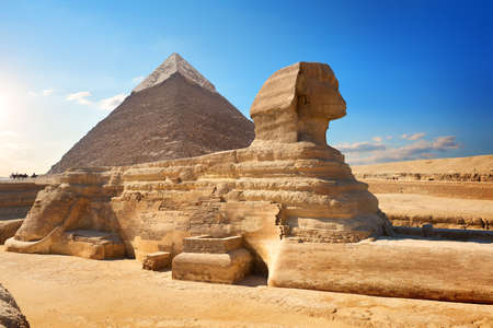 Sphinx and pyramid Stock Photo - 94321567