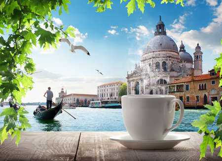 A cup of coffee in Venice Banque d'images