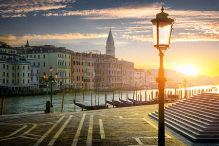 Street lamp in Venice Stock Photo