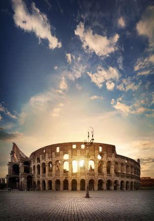 Ancient Roman Colosseum Imagens