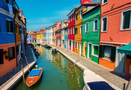 Houses in summer Burano