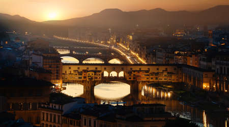 Ponte Vecchio in Florence Stock Photo - 102953522