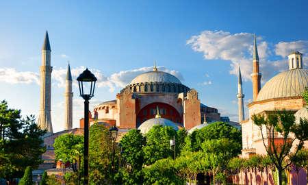 Hagia Sophia at sunny day Banco de Imagens